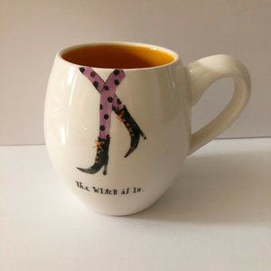 Rae Dunn Halloween THE WITCH IS IN Mug